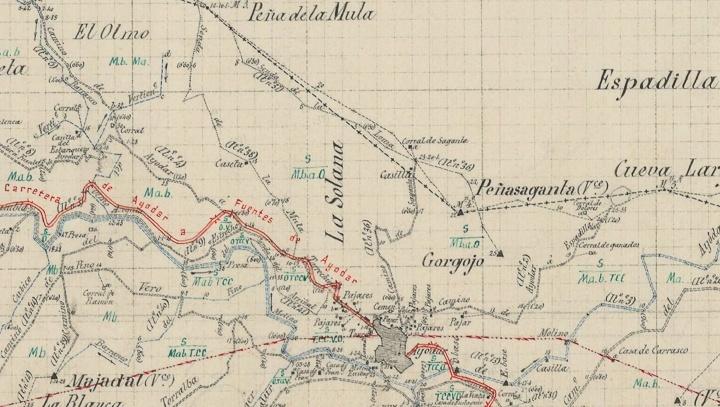 Mapa historico Ayodar 1907