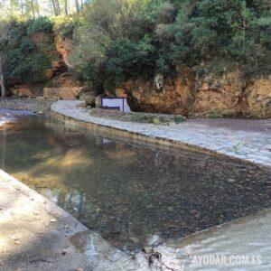 Fuente Larga de Ayodar iinundada tras la gota fria