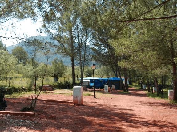 Zona de acampada. Camping Ayodar